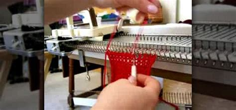 how to crochet a cast with a knitting machine
