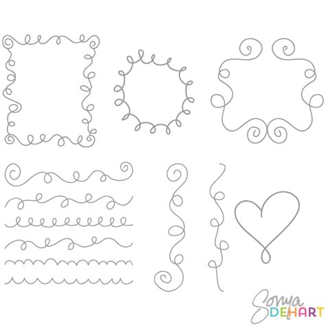 how to create doodle frames clip doodle frames and borders