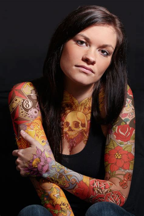 full body tattoo female pictures 25 beautifully colorful tattoos creativefan