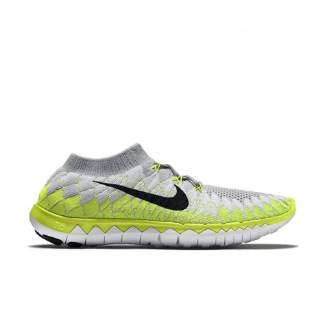 mens size 14 athletic shoes nike free 3 0 flyknit white black volt grey s running