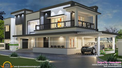 free home designs modern flat roof house in tamilnadu house elevation