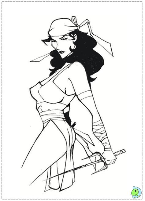 marvel elektra coloring pages pin elektra marvel colouring pages on pinterest