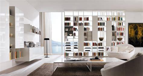 librerie a giorno divisorie librerie bifacciali per separare ambienti cose di casa