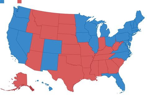 united states map showing and blue states states blue states 2016 is looking a lot like 2012