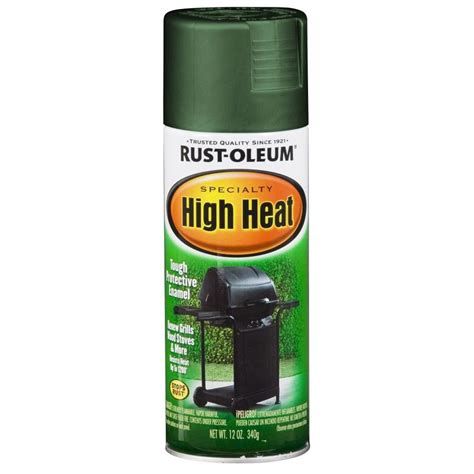 shop rust oleum specialty high heat high heat green rust resistant enamel spray paint actual