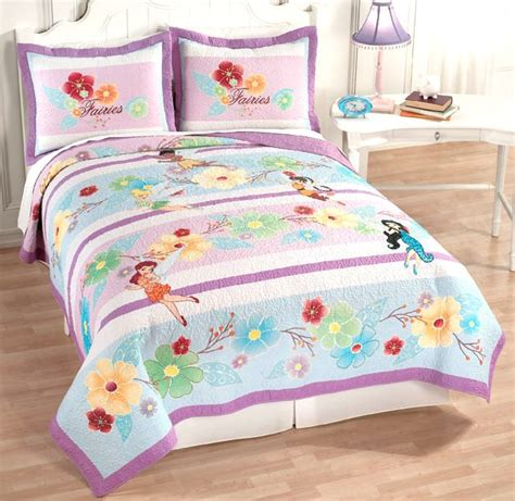 fairy bedding disney fairies tinker bell pixie purple full queen quilt 2