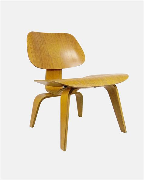 eames design chair herman miller lcw plywood walnut