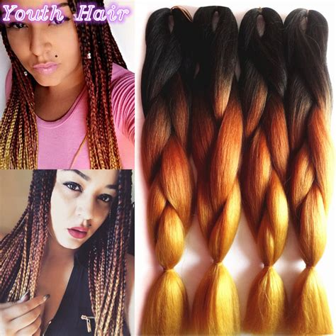 ombre kanekalon braiding hair synthetic braids promotion shop for promotional synthetic