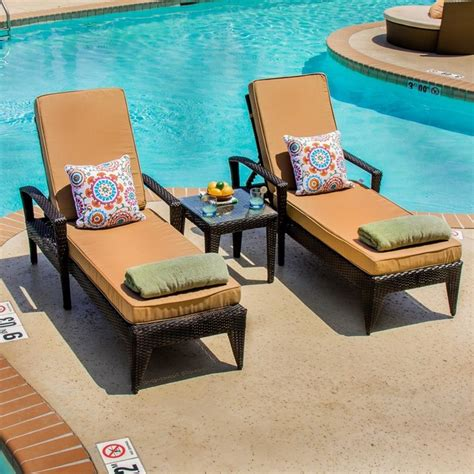 2 person chaise lounge outdoor providence 2 person resin wicker patio chaise lounge set