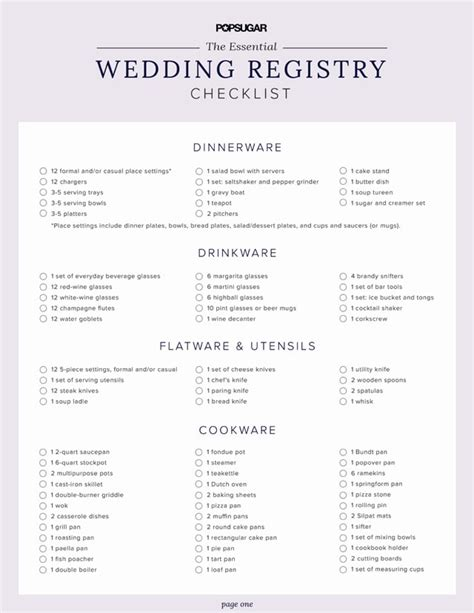 printable checklist for wedding registry 10 printable wedding checklists for the organized bride