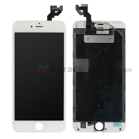 apple iphone 6s plus lcd assembly with frame and small parts white etrade supply