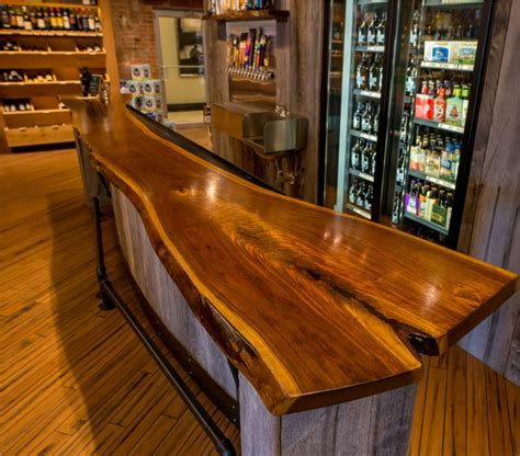 wood bar tops slab wood custom bar top bo brooks oe custom