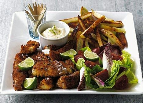 recipe: cajun cod and chips | daily mail online