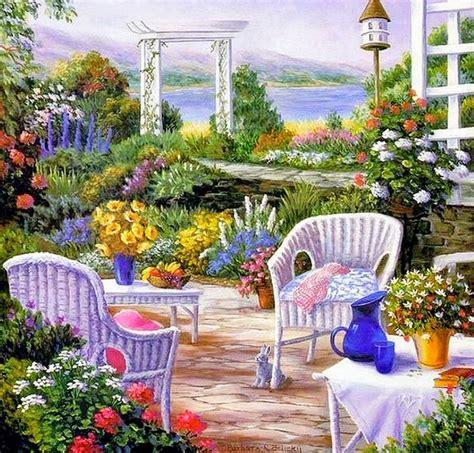 jardines y paisajes im 225 genes arte pinturas paisajes con jardines y flores