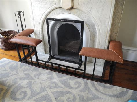 fireplace fender bench custom fireplace screens and club fender benches by old