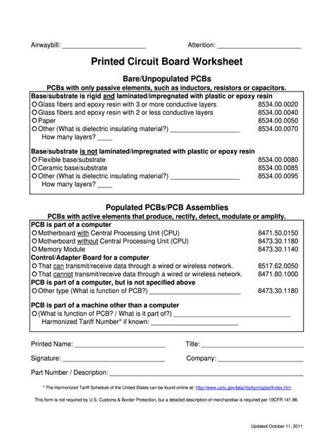 circuit board  sample fill  printable