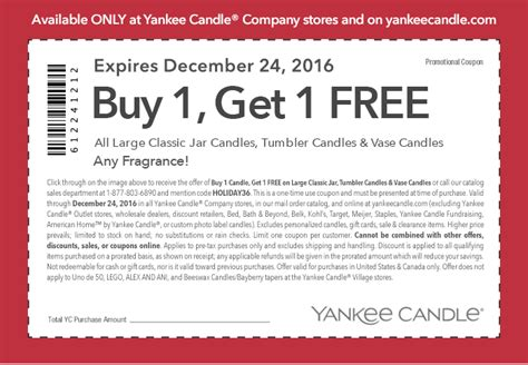 printable yankee candle coupons march 2016 yankee candle bogo free coupon deal mama