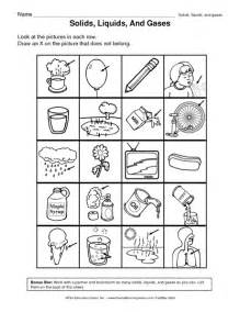 solid liquid and gas worksheets davezan