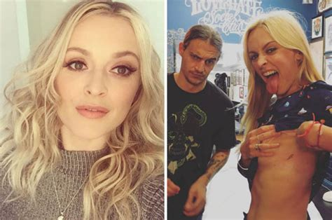 fearne cotton shows  bowie tattoo    braless daily star