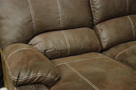 rustic brown microfiber modern reclining sectional