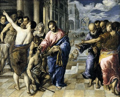 healing the blind healing the blind by greco el