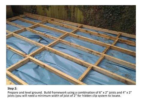 How To Install Pvc Decking by Installation Composite Decking Ireland Longlife Deck