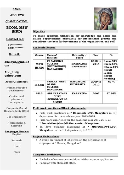 cts resume format for freshers resume template easy