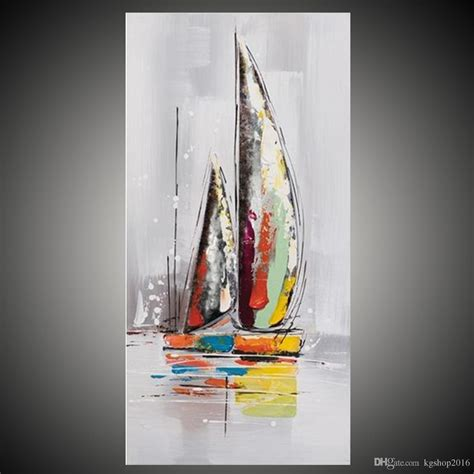 boat canvas art 2018 kgtech multicolor boat artwork handmade acrylic