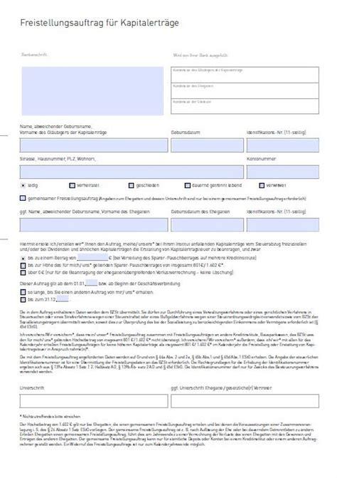 selbstauskunft bank formular freistellungsauftrag muster cortal consors kunden werben