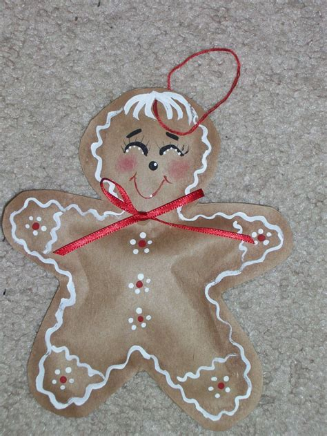 gingerbread ornament out of brown paper 29 best images about brown paper bag ornaments on brown paper bags