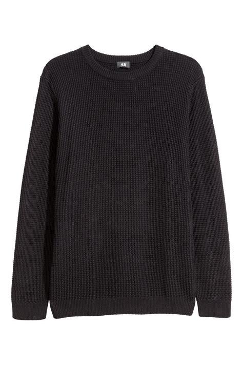H M Textured Knit Jumper Khaki Green textured knit sweater black sale h m us