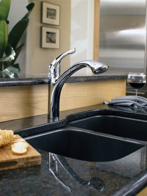 forte kitchen faucet kohler forte pull out spray kitchen faucet