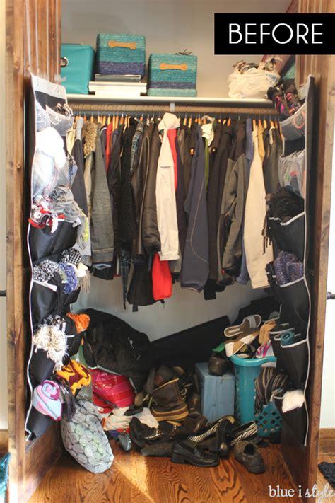 coat closet organizing with style organized coat closet makeover