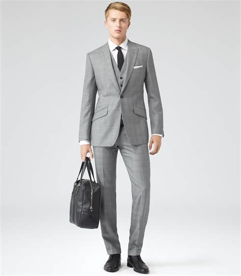Three Suit Reiss Dodd Notch Three Suit In Gray For