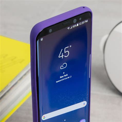 official samsung galaxy s8 silicone cover case violet