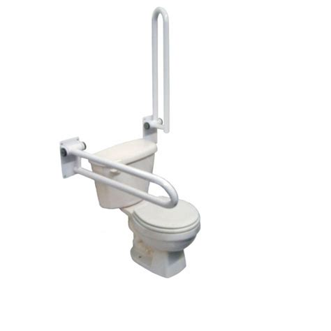 bathroom safety rail p t toilet safety rail hinged 28 quot left side