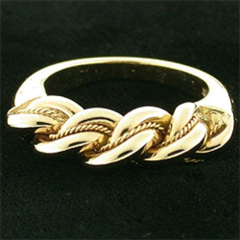 latvian 14 karat yellow gold namej ring interesting