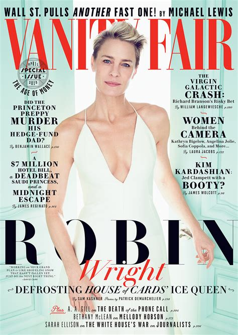 Cover Of Vanity Fair by Diary Of A Clotheshorse Robin Wright Covers Vanity Fair