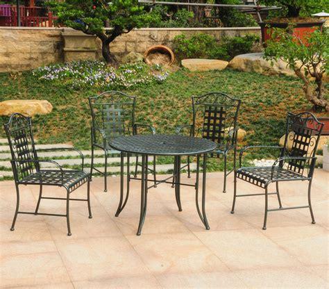 wrought iron patio table five wrought iron patio set patio table