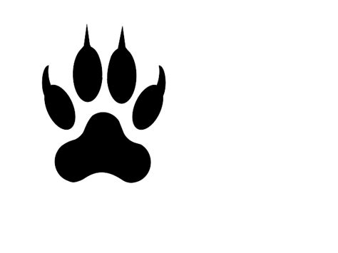 wolf paw print clip art cliparts co