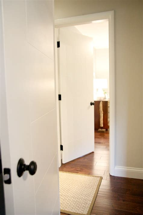 White Interior Door Handles Doors With Hardware Masonite West End Berkley Style Doors For Mid Century Home For The