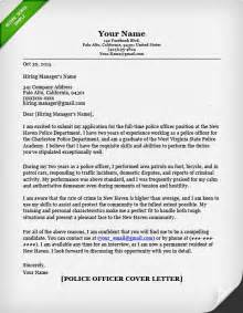 Enforcement Officer Cover Letter by Officer Cover Letter Writing Guide Resume Genius