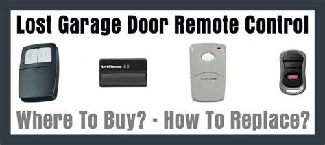 lost garage door remote control   replace