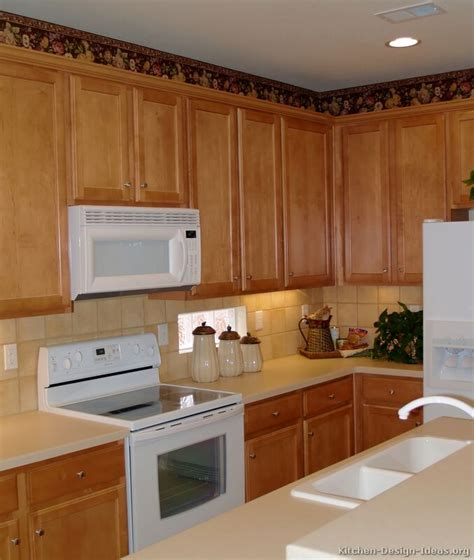 Wooden Kitchen Ideas by Westwood Maple Cabinets With White Appliances Cabinet Wood
