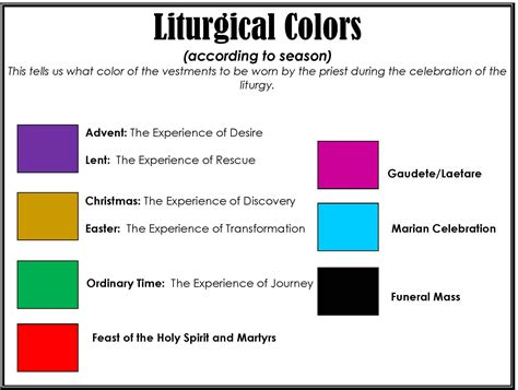 episcopal church calendar colors