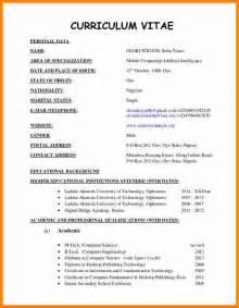 4 latest cv format sample ledger paper