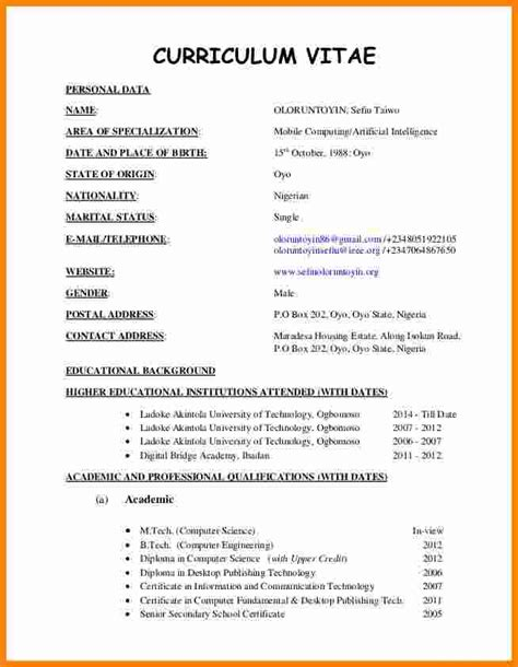 curriculum vitae format for engineering students pdf cv format