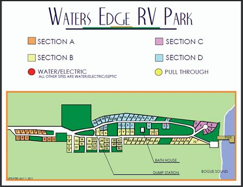 missouri cing map waters edge rv park water
