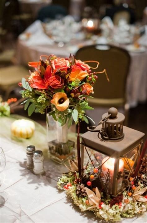 45 Fall Wedding Centerpieces That Inspire Happywedd Com Wedding Fall Centerpieces