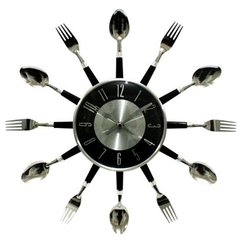 kitchen utensil wall clock products i